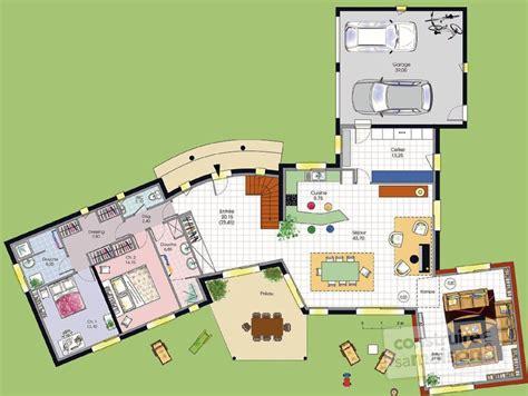 Vaste Maison De Plain Pied D 233 Du Plan De Vaste plan maison 120m2 plain pied 10 vaste villa d233tail du