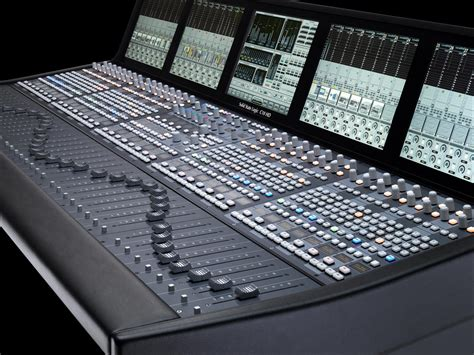 Audio Console five ssl c10 hd broadcast consoles for fox sports international solid state logic