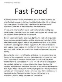 Food Waste Essay Conclusion by Fast Food Essay Conclusion Essay For Usa