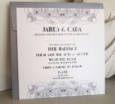 deco wedding stationery uk deco wedding invitations paper pleasures wedding