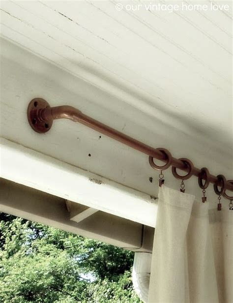 how to hang patio curtains 17 best ideas about outdoor curtain rods on pinterest