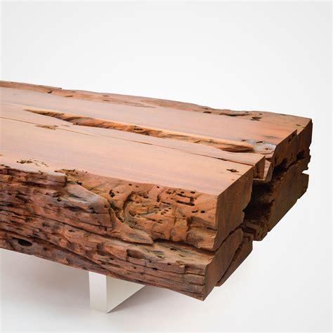 bicuiba trunk coffee table brushed stainless steel legs