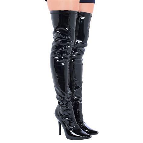 thigh high mens boots lucille womens stiletto heels zip up thigh