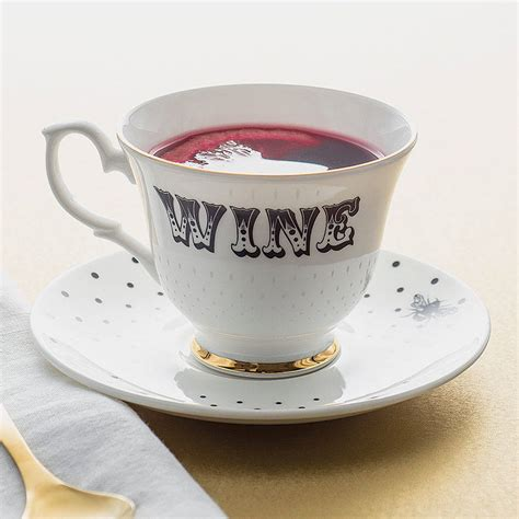 best tea cup wine teacup and saucer by yvonne