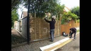 Trennwand Garten Selber Bauen Montage Sichtschutz Aus Bambus Www Bambus Nl Youtube