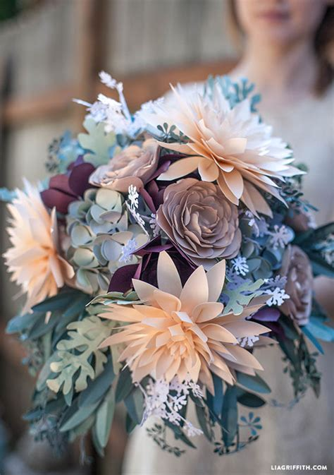 Bouquet With Paper - rustic paper bridal bouquet pictures photos and images