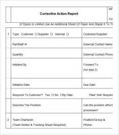 corrective action report templates free word pdf documents