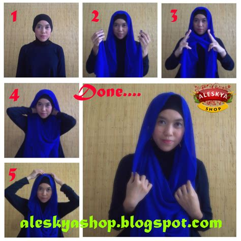 tutorial turban pashmina sifon aleskya shop hijab store and accessories tutorial