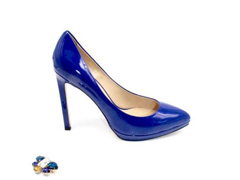 Heels Glossy glossy blue platform heels