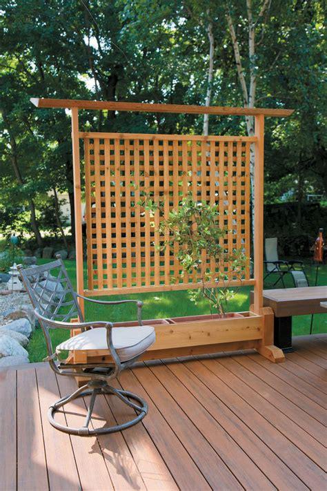 Deck Planters For Privacy by Diy Privacy Planter Quarto Homes