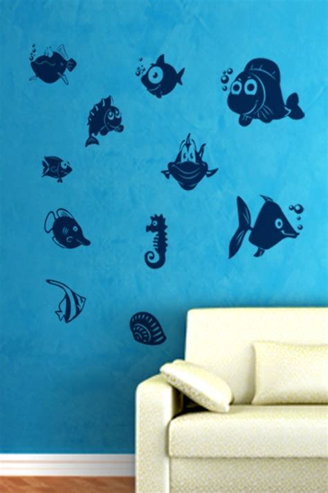 wall stickers fish fish wall decals fish wall stickers 2016 grasscloth wallpaper with tropical fish vinyl wall