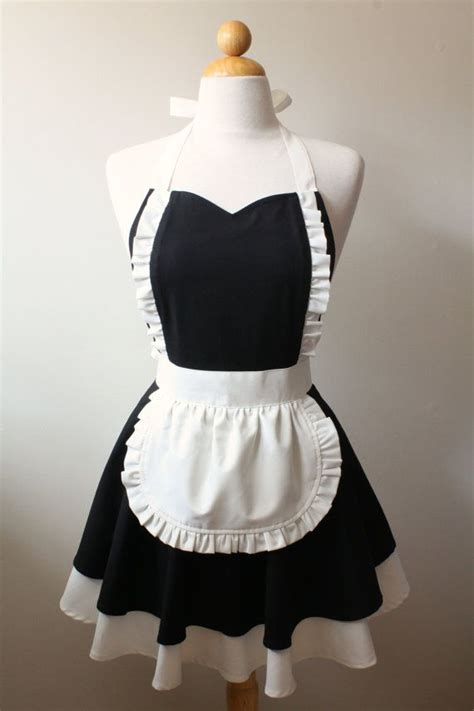 pattern for french maid costume french maid apron sweetheart neckline mimi full apron