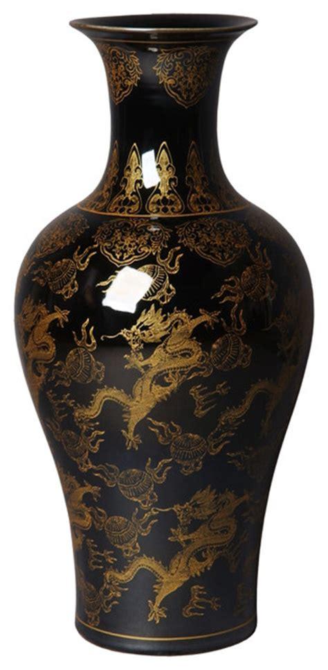 And Black Vases by Barker Vase Black And Gold Vases By Emissary