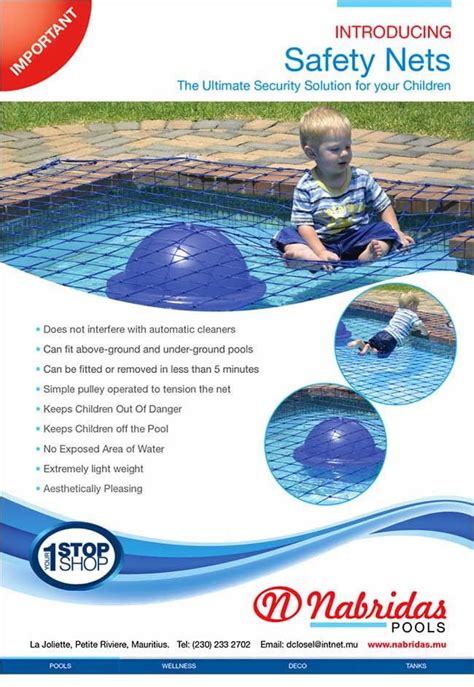 Nabridas Pools Introducing Safety Nets The Ultimate Backyard Pool Safety