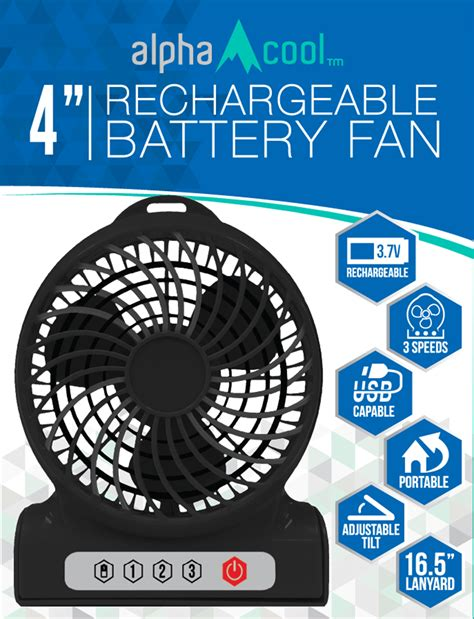 rechargeable battery powered fan alphacool 4 quot rechargeable battery powered fan my cooling