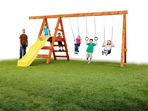 easy swing simple swing set plans woodworking projects plans