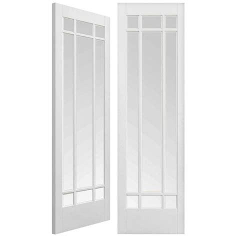 White Glass Door Lpd Manhattan White Primed Pair Door Leader Doors