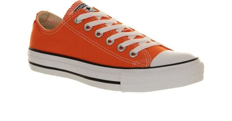 Convers Tanggal Orange 1 converse all low in orange for lyst