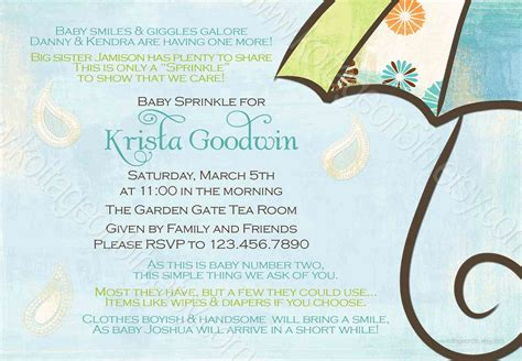 Baby Shower For 3rd Baby by Sprinkle Shower Invitation For 2nd Or 3rd Baby 16 00 I