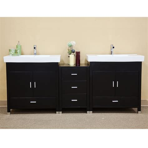 81 inch double sink bathroom vanity in black uvbh203107d81