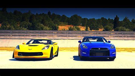 nissan 370z vs corvette drag race 2015 chevrolet corvette z06 vs 2012 nissan gt