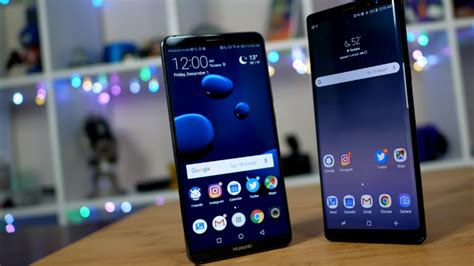 huawei mate 10 pro vs galaxy note 8 battle of the beasts pocketnow