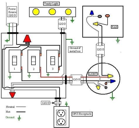 three way switch wiring diagrams ceiling fan with light