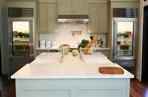 Kitchen Sink In Island by Double Kitchen Sinks Transitional Kitchen Urban