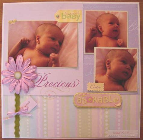 scrapbook layout ideas baby girl 17 best images about baby girl scrapbook ideas on