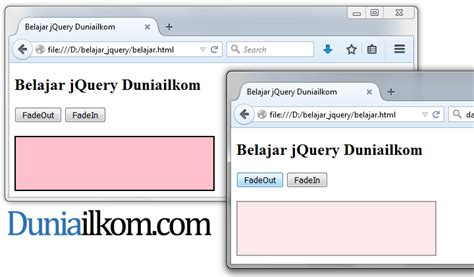 cara membuat query gabungan cara membuat efek fade dengan jquery duniailkom