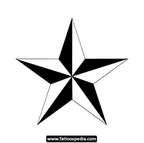 nautical star tattoo design ideas 10