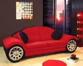 black race car sofa children furniture microfiber new
