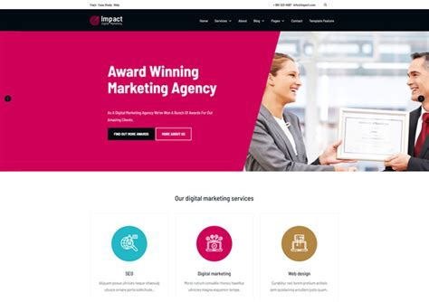 Seo Marketing Company 5 by Impact An Seo Company Html5 Website Template Ease Template