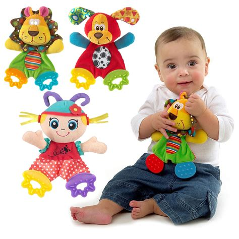 baby toys for newborn baby handkerchief toys bed hanging plush rattle teether ring toys ebay