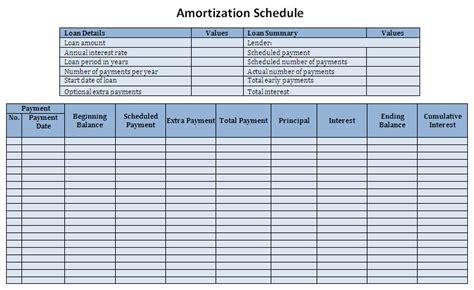 Loan Schedule Sle Student Loan Amortization Schedule Template