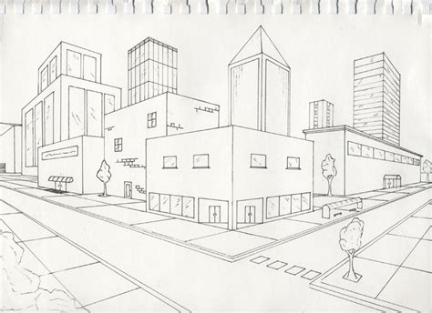 Drawing 2 Point Perspective by Gossipi S Animation Day 6 Characterizing The Bouncing