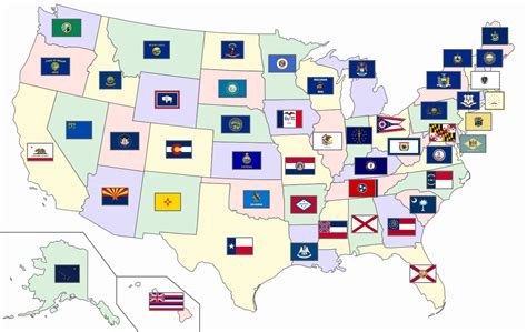 usa map states flags ripituc us flag map