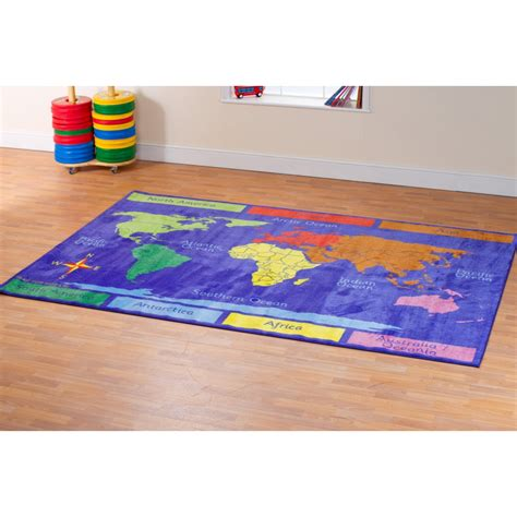 World Map Carpet Activity Rug Activity Rug