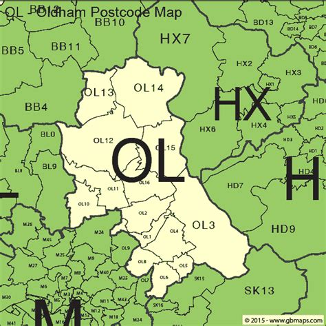 map uk oldham oldham postcode area and district maps in editable format