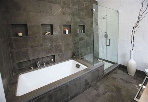 Shower Bad by Wall Of Tile Tub Shower Cubbies Tub Deck Extends