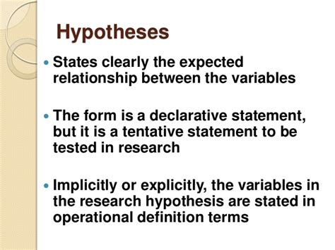 how to state a hypothesis in a research paper hypothesis