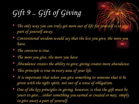 The Gift Of Giving by The Ultimate Gift 209