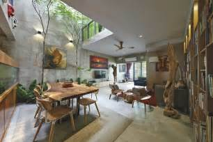 create house trees and shrubs create faux courtyard inside house
