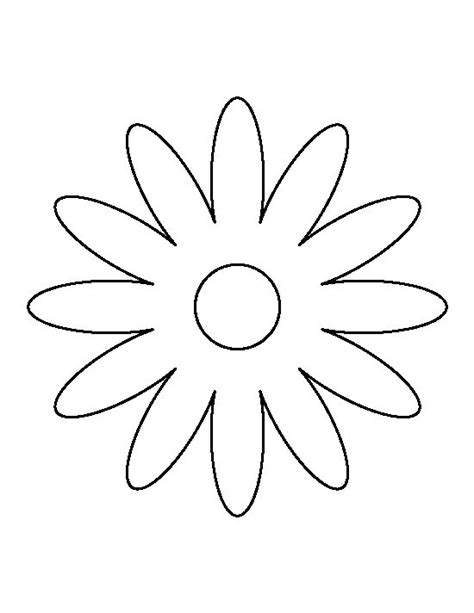 printable daisy stencils daisy pattern use the printable outline for crafts