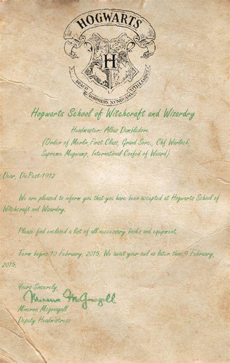 Rider Acceptance Letter Hogwarts Acceptance Letter For Diepest 1912 By Hogwarts Bound On Deviantart