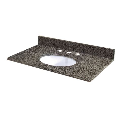 Home Depot Granite Vanity Top pegasus quadro granite vanity top 49 inch x 22 inch