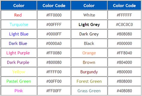 text color codes html text color code some easy html font codes to help