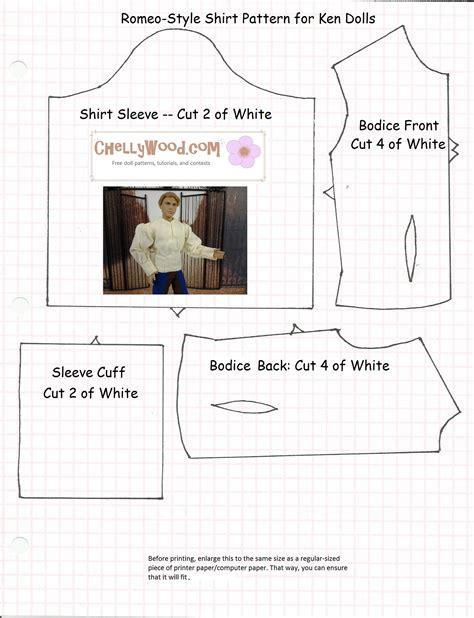 shirt pattern for ken doll 1000 images about barbie on pinterest barbie patterns