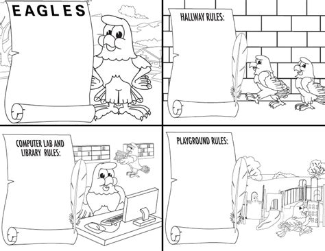 coloring pages school rules pbis roll out kit for riviera elementary eagles pbis posters