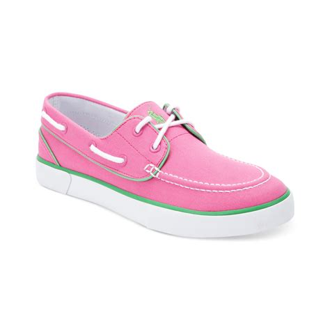 pink boat shoes ralph lauren lander p boat shoes in pink for men maui